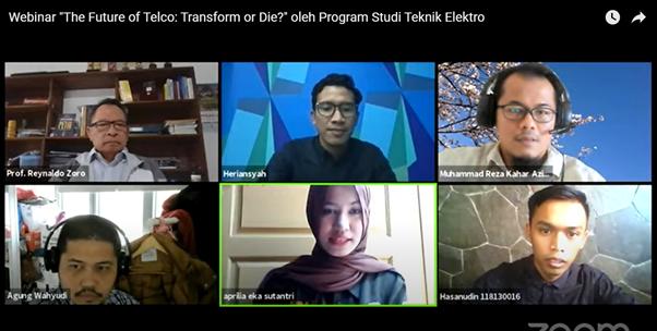 "Teknik Elektro ITERA Mengadakan Webinar dengan Tema ""The Future of Telco: Transform or Die?"""