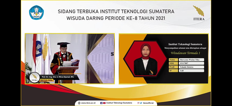 Mahasiswa Program Studi Teknik Elektro ITERA Raih Gelar Wisudawan Termuda Periode Juli 2021